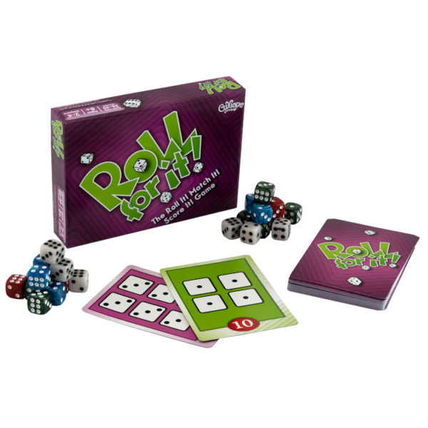 Roll For It Purple Edition components dice game Calliope
