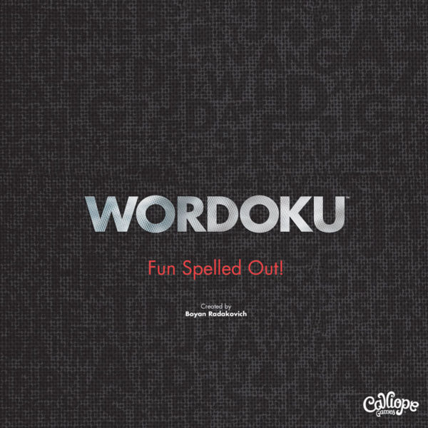 Wordoku Fun Spelled Out Cover Calliope Games