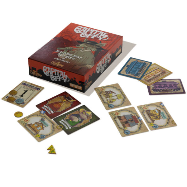 Capital City game components by Calliope Games