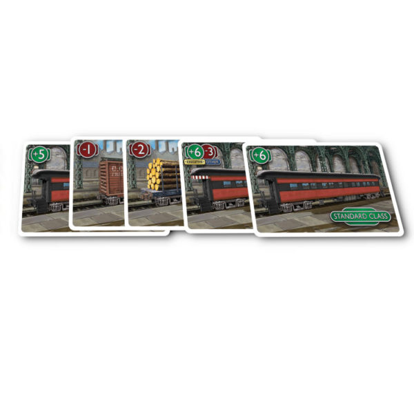 Station Master railcar cards by Calliope Games