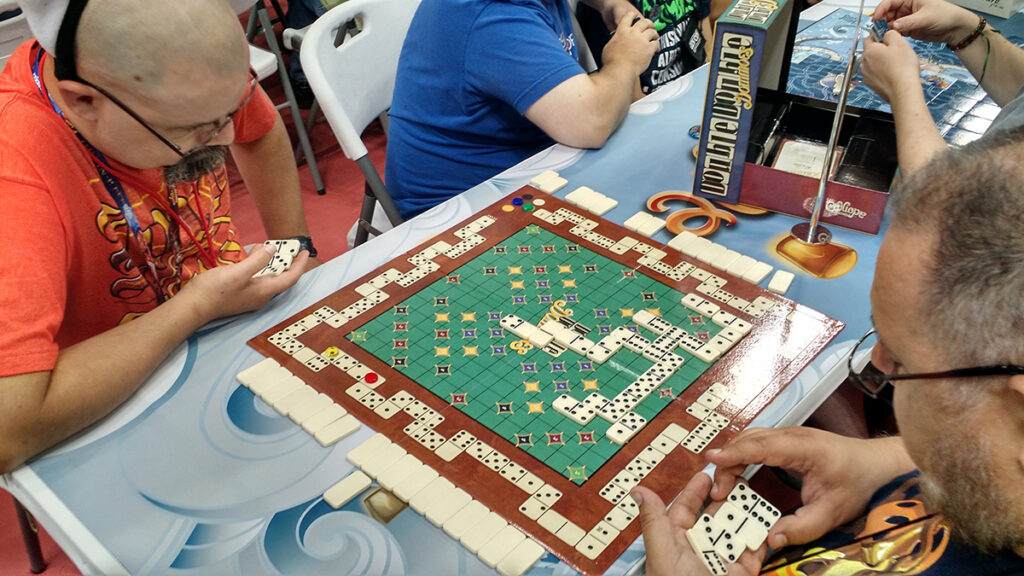 People Playing Double Double Dominoes at Gen Con 2016