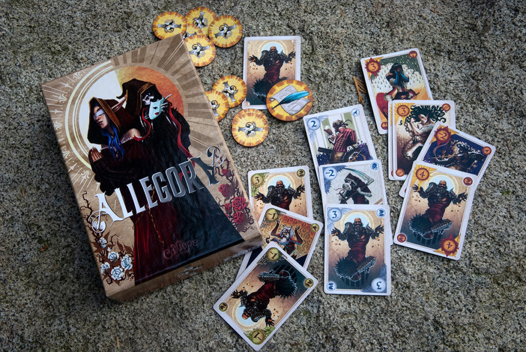 Allegory box and playing cards