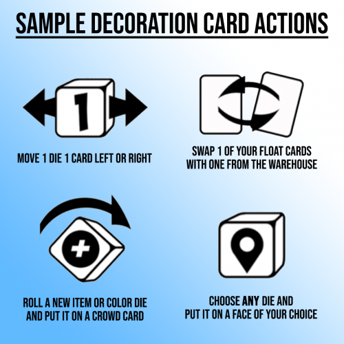 Everyone Loves a Parade sample decoration card actions