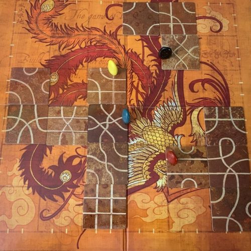 Tsuro 2 player variant with 4 tokens