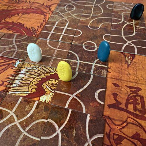 Tsuro gameplay of the longest path